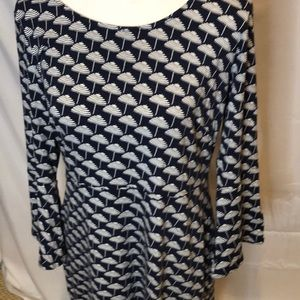 Boden Umbrella Print Dress Stretch Knit.  Size 10.